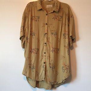 Urban outfitters tigger print button down shirt L